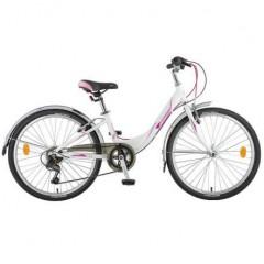 """Велосипед NOVATRACK 24"""" ANCONA, алюм.рама 12"""", белый, 7-скор, TY300/RS35/TZ500, V-brake"""