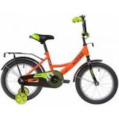 """Велосипед NOVATRACK 16"""" VECTOR оранжевый, тормоз нож, крылья, багажник, защита А-тип"""