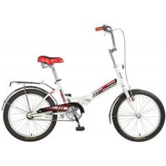 """Велосипед NOVATRACK 20"""" складной, TG30, белый, торм 1руч и нож,,ALобода, комфорт.сид.и руль #117076"""