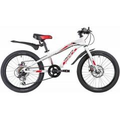 "Велосипед NOVATRACK 20"", PRIME, белый, алюм., 6-скор, TY21/TS38/SG-6SI, диск.тормоз ARTEK"