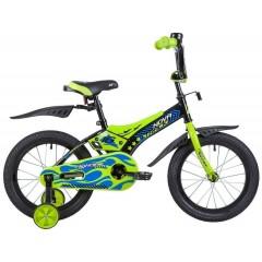 """Велосипед NOVATRACK 16"""" FLIGHTLINE, чёрный, пластиковые короткие крылья"""