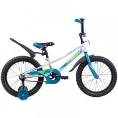 "Велосипед NOVATRACK 18"", VALIANT, белый, защита А-тип, тормоз нож, короткие крылья, нет багажника"