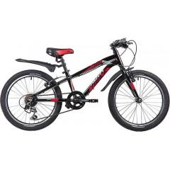 """Велосипед NOVATRACK 24"""" PRIME алюм.рама 11"""", чёрный, 18-скор, TY21/TS38/SG-6SI, V-brake алюм."""