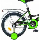 """Велосипед NOVATRACK 18"""" URBAN чёрный, защита А-тип, тормоз нож, крылья и багажник хром"""